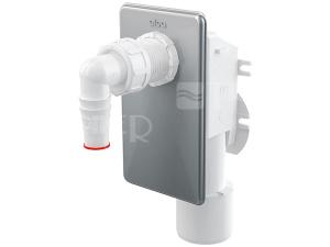 Sifon pračkový podomítkový APS3 odpad 50 mm nerezová krytka