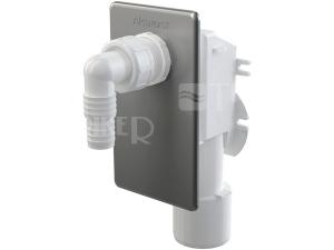 Sifon pračkový podomítkový APS3 odpad 50mm nerezová krytka