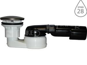 Sifon sprchový HL514SN s ocelovou krytkou, odtok 40/50mm