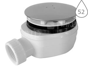 Sifon sprchový nízký s krytkou EWNN940 pro vaničky s otvorem 90 mm, krytka nerezová