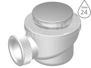 Sifon sprchový P-1440K-50/60 klik-klak pro vaničky s otvorem 50/60mm, kovová krytka