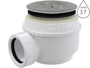 Sifon sprchový Roltechnik 8100000 pro vaničky s otvorem 50/60 mm, krytka nerez
