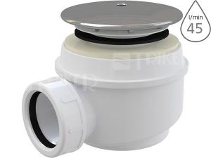 Sifon sprchový Roltechnik 8100002 pro vaničky s otvorem 50/60 mm, krytka plast/chrom