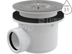 Sifon sprchový Roltechnik 8100014 pro vaničky s otvorem 90 mm, mřížka nerez