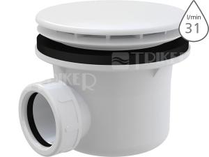 Sifon sprchový Roltechnik 8100015 pro vaničky s otvorem 90 mm, krytka plast/bílá