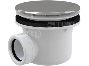 Sifon sprchový Roltechnik 8100016 pro vaničky s otvorem 90 mm, krytka plast/chrom