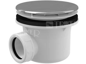Sifon sprchový Roltechnik 8100021 pro vaničky s otvorem 90 mm, krytka nerez