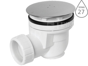 Sifon sprchový s krytkou EWN0640 pro vaničky s otvorem 60mm, krytka nerezová