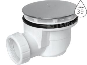 Sifon sprchový s krytkou EWN0850 pro vaničky s otvorem 90 mm/odpad 50 mm, krytka nerezová