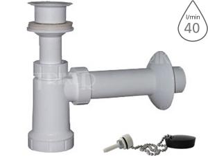 Sifon umyvadlový s výpustí EU0P341 s plastovou mřížkou, řetízkem DN40