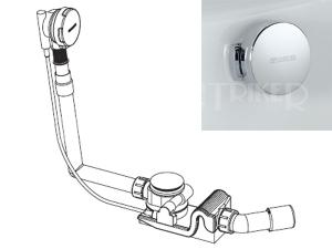 Sifon vanový Kaldewei Comfort Level 4003, chrom, délka přepadu 1070 mm