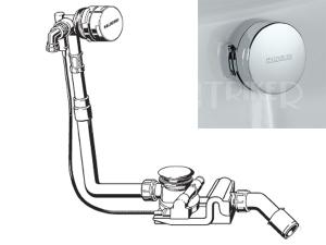 Sifon vanový Kaldewei Comfort Level Plus 4012 s napoušť. přepadem, chrom, délka přepadu 725 mm
