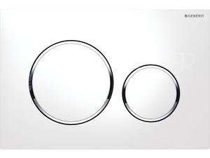Sigma20 ovládací tlačítko bílá/lesklý chrom/bílá
