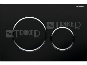 Sigma20 ovládací tlačítko černá/lesklý chrom/černá