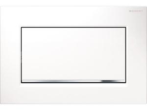 Sigma30 ovládací tlačítko start/stop bílá/lesklý chrom/bílá