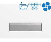 Sigma40 ovládací tlačítko s odsáváním zápachu bílá/kartáčovaný hliník, 115.600.KQ.1, Geberit