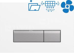 Sigma40 ovládací tlačítko s odsáváním zápachu bílá/kartáčovaný hliník