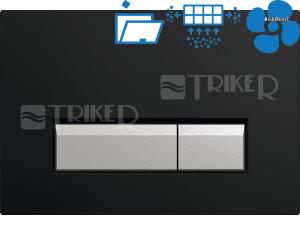 Sigma40 ovládací tlačítko s odsáváním zápachu černá/kartáčovaný hliník