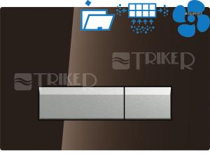 Sigma40 ovládací tlačítko s odsáváním zápachu hnědé sklo/hliník