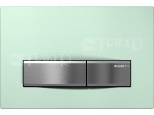 Sigma50 ovládací tlačítko zelené sklo satinované