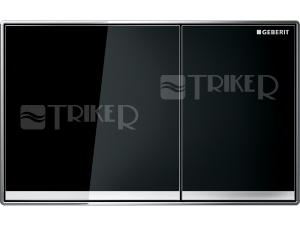 Sigma60 ovládací tlačítko zalícované černé sklo