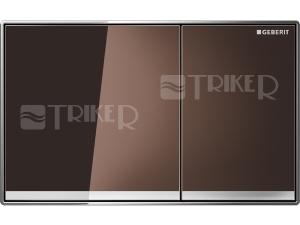 Sigma60 ovládací tlačítko zalícované hnědé sklo