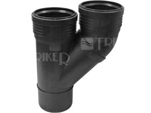 Silent-PP odbočka paralelní 2 x 45° 110/110 mm