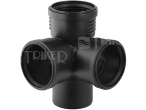 Silent-PP odbočka rohová 87,5° 110/110/110 mm