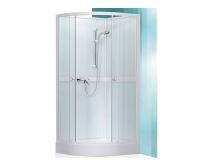 Simple sprchový box 800 profil:bílý, výplň:transparent + vanička a baterie, 4000248, Roltechnik