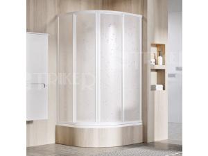 SKCP4 Sabina sprchový kout SKCP4-90 R500 (875-895mm) profil:bílý, výplň:pearl