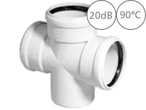 SKDA dvojitá odbočka odpadní dB20 87°