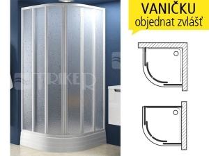 SKKP6 sprchový kout SKKP6-90 R500 (875-895mm), profil:bílý, výplň:transparent