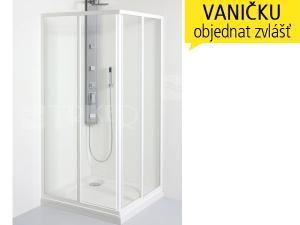 SKRH sprchový kout SKRH 2/90, profil:bílý, výplň:čiré sklo
