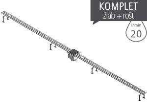 SLKN 01 nerezový štěrbinový žlábek pro koupaliště, délka 2 m