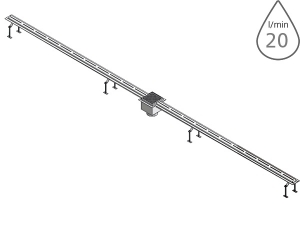 SLKN 01L nerezový štěrbinový žlábek pro koupaliště 316L, délka 2 m