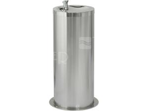 SLUN 23 Nerezová pitná fontánka pro postavení do prostoru, lesklá miska/matné opláštění