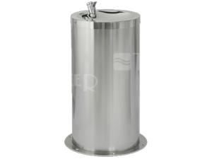 SLUN 23M Nerezová dětská pitná fontánka pro postavení do prostoru, lesklá (opláštění matné)