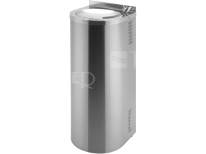 SLUN 43 Nerezová pitná fontánka s tlačnou armaturou, miska lesklá/opláštění matné
