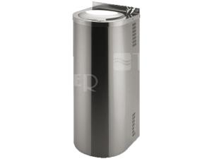 SLUN 43C Nerezová pitná fontána pro montáž ke stěně s chladící jednotkou a tlačnou armaturou