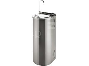 SLUN 43CS Nerezová pitná fontána pro montáž ke stěně s chladící jednotkou a tlačnou armaturou/armaturou pro napouštění sklenic