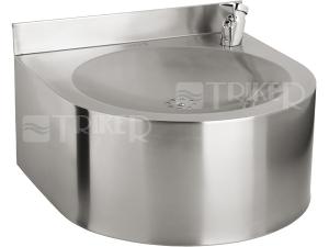 SLUN 62 Nerezová pitná fontánka závěsná s tlačnou armaturou, matná