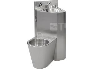 SLWN 08L WC s umyvadlem do rohu, WC na zemi vlevo, matný povrch