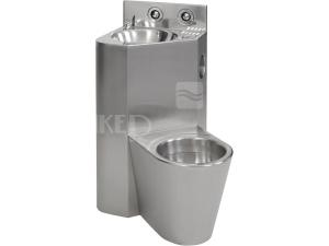 SLWN 08P WC s umyvadlem do rohu, WC na zemi vpravo, matný povrch