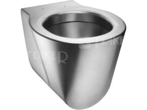 SLWN 12 Nerezové závěsné WC 53,5 cm, matné