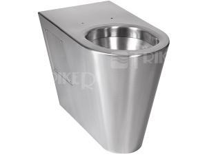 SLWN 13 Nerezové stojící WC pro tělesně postižené 50 cm, matné