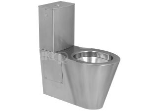 SLWN 15 Nerezové kombinační WC 40 cm, vodorovný odpad, matné