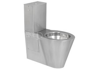 SLWN 16 Nerezové kombinační WC 48 cm, vodorovný odpad, matné