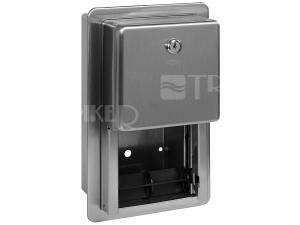 SLZN 26Z Nerezový zásobník dvou toaletních rolí, montáž pod omítku, matný