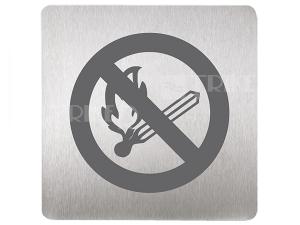 SLZN 44N Piktogram zákaz otevřeného ohně 120 x 120 mm