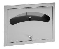 SLZN 66Z Nerezový zásobník papírových podložek na WC sedátka pod omítku, matný, 95661, Sanela
